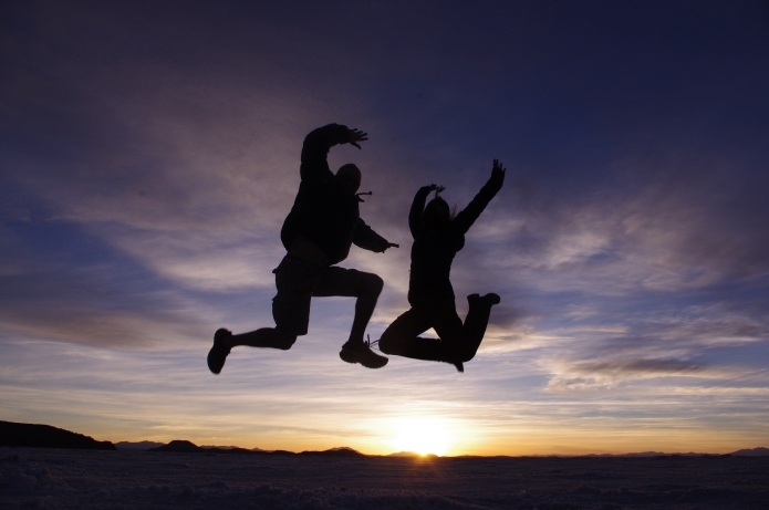 Jumping for joy in Bolivia