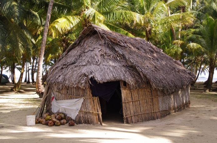 Kuna hut on the island