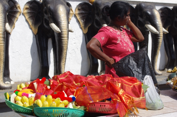 Offerings of fruit bask in the sun