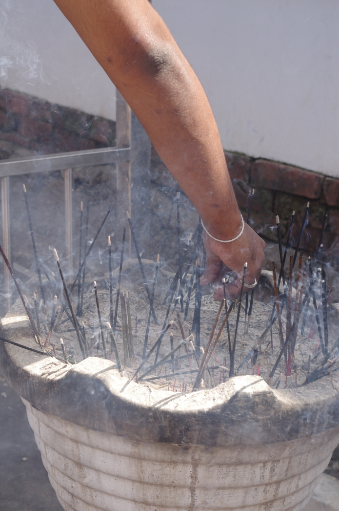 Making an incense offering