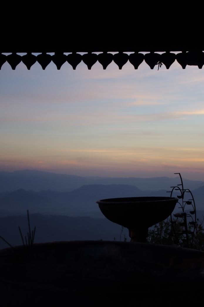 Sunrise hits Adam's Peak