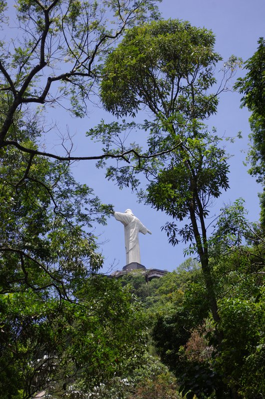 View of the Christ on the walk up