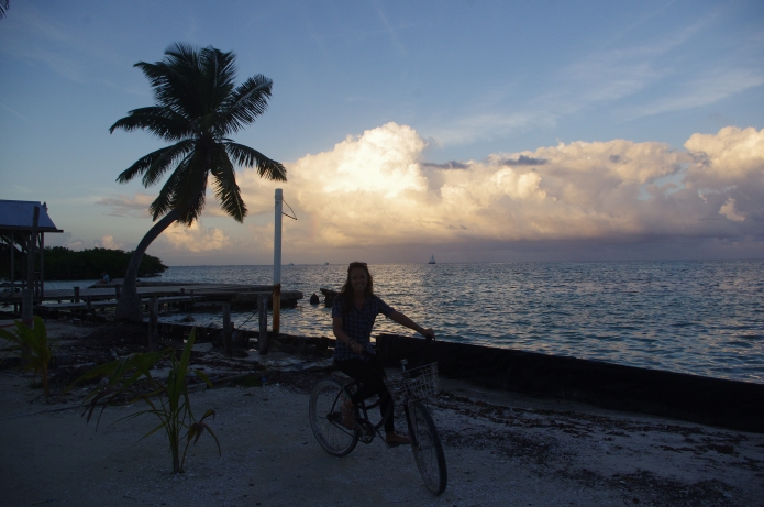 Cruise bikeing in Caye Caulker Belize