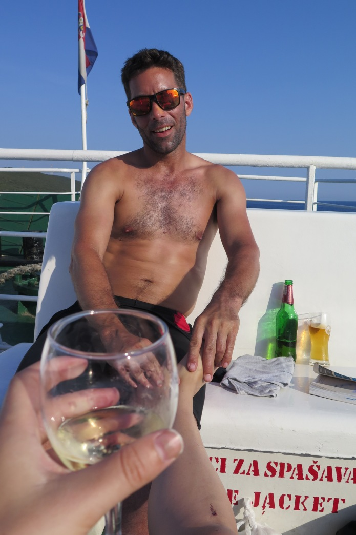 Foot rub and a vino...he owed me!