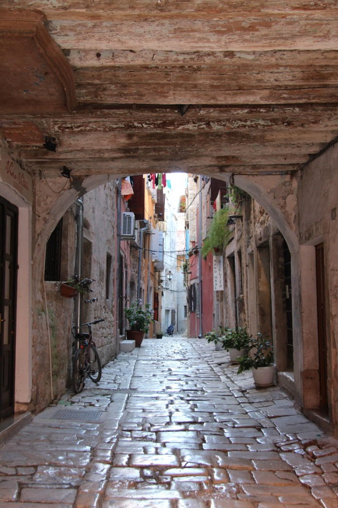 The windy, cobbled streets of Rovinj