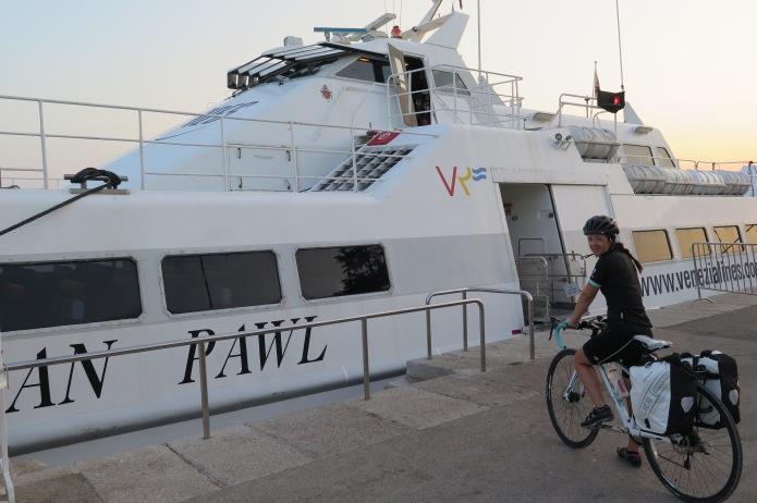Boarding in Rovinj for Venice