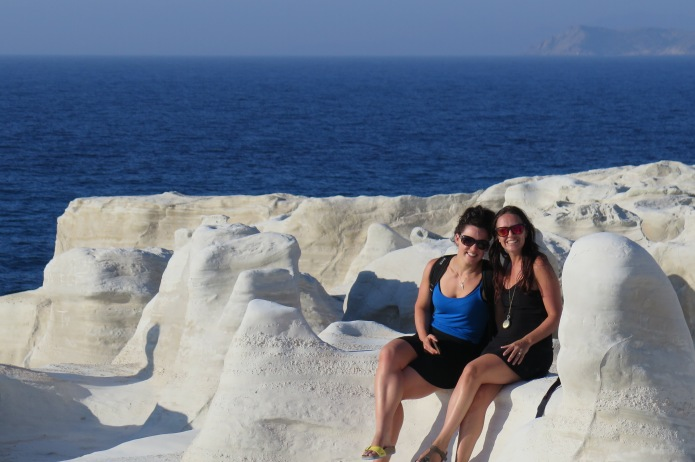 Gill and me on Sarakiniko beach