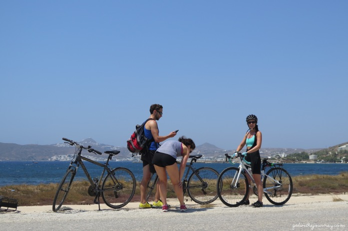 Cycling around the island