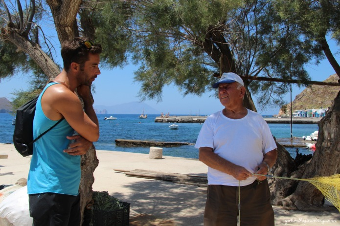 Andy gets chatting to a local fisherman who used to work on merchant vessels like him