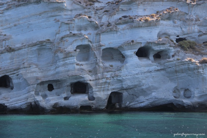 Stunning caves, rock formations and sea