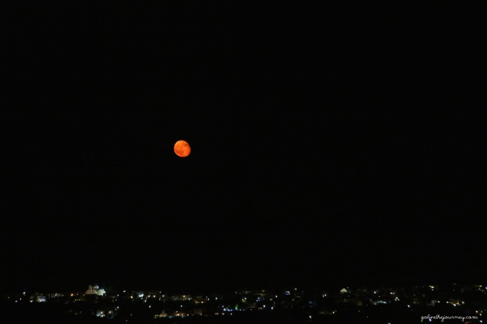 Fiery moon - what a treat!